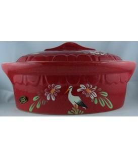 Terrine ovale individuelle - Rouge cigogne