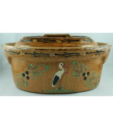 Terrine ovale pour 8 à 10 personnes - Faux bois cigogne