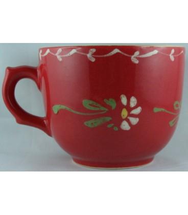 Tasse à déjeuner - Rouge fleur