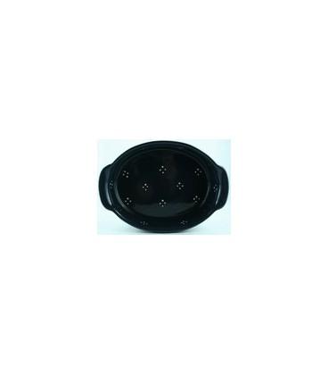 Plat ovale 34 cm - Bleu 4 points