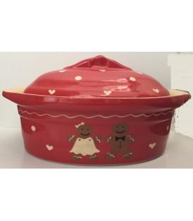 Terrine ovale pour 10 à 12 personnes - Manala rouge