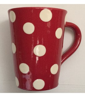 Mug rouge pois nature