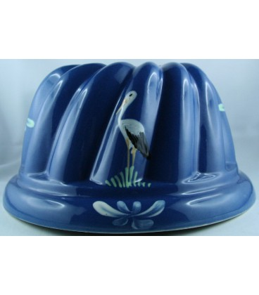 Kougelhopf pour 6 à 8 personnes - Bleu jean cigogne