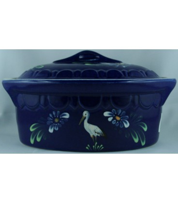 Terrine ovale individuelle - Bleu cigogne