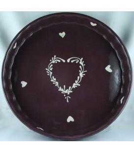 Tourtière 30 cm - Aubergine coeur nature
