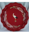Tourtière 30 cm - Rouge cigogne