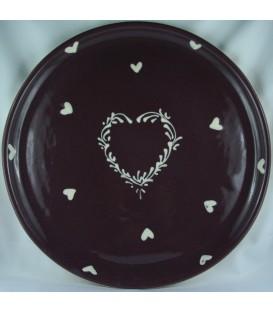 Plat à tarte - Aubergine coeur nature