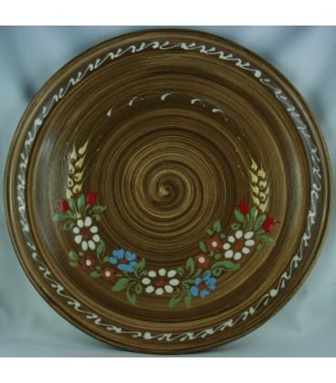 Plat à tarte - Faux bois fleur