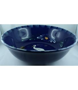 Saladier bas - Bleu cigogne