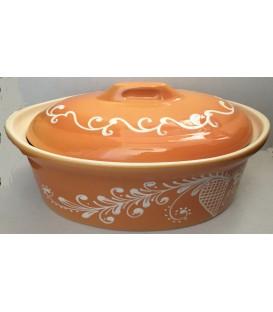 Terrine ovale pour 8 à 10 personnes - Plume Mandarine