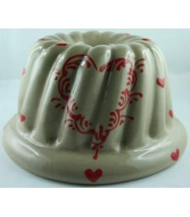 Kougelhopf pour 8 à 10 personnes - Taupe coeur rouge